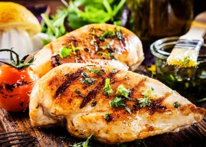 grilled chicken breast by Mike Cutler